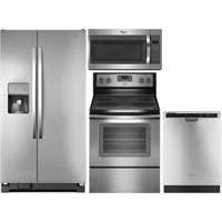 Whirlpool 4 Pc. Stainless Side-by-Side Kitchen Package - WRS325STKIT - IN STOCK