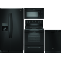 Whirlpool 4 Pc. Black Side-by-Side Kitchen Package - WRS325BLKIT - IN STOCK