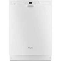 Whirlpool Gold Series WDF760SADW Stainless Steel Tub Built-in White Dishwasher - WDF760SADW - IN STOCK