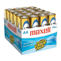 Maxell 20 Pack AA Alkaline Batteries - 723453 - IN STOCK