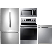 Samsung 4 Pc. Stainless French Door Kitchen Package - RF26HFSSKIT - IN STOCK
