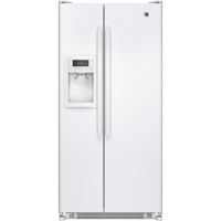 G.E. GSS20ETHWW 20.0 Cu. Ft. White Side-by-side Refrigerator - GSS20ETHWW - IN STOCK