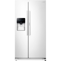 Samsung RH25H5611WW 24.7 Cu. Ft. White Side-by-Side Food ShowCase Refrigerator - RH25H5611WW - IN STOCK