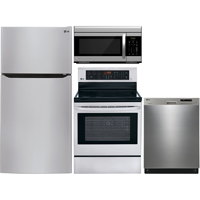 LG 4 Pc. Stainless Top Freezer Kitchen Package - LG24TMSSKIT - IN STOCK