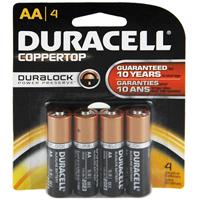 Duracell Coppertop 4/Pack Alkaline AA Batteries - MN1500B4Z - IN STOCK