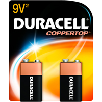Duracell Coppertop 2/Pack Alkaline 9 Volt Batteries - MN1604B2Z - IN STOCK