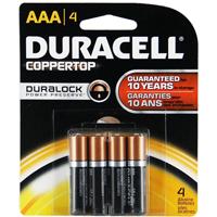 Duracell Coppertop 4/Pack Alkaline AAA Batteries - MN2400B4Z - IN STOCK