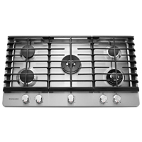 Kitchen Aid KCGS956ESS 36 in. Stainless 5 Burner Gas Cooktop with Griddle - KCGS956ESS - IN STOCK
