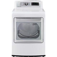 LG DLEX5780WE 7.3 Cu. Ft. White EasyLoad White High Efficiency Top Load Steam Dryer - DLEX5780WE - IN STOCK