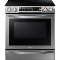 Samsung Chef Collection NE58H9970WS 5.8 Cu. Ft. Stainless Flex-Duo Slide-In Induction Range - NE58H9970WS - IN STOCK