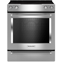 Kitchen Aid KSEB900ESS 7.1 Cu. Ft. Stainless 5 Burner Slide-in Range with Baking Drawer - KSEB900ESS - IN STOCK