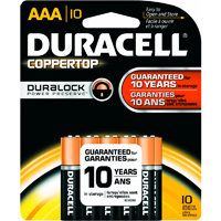 Duracell Coppertop 10/Pack Alkaline AAA - MN2400B10Z - IN STOCK