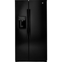 G.E. GSE25HGHBB 25.4 Cu. Ft. Black Side-By-Side Refrigerator - GSE25HGHBB - IN STOCK