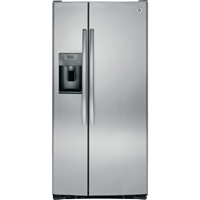 G.E. GSS23HSHSS 22.5 Cu. Ft. 33 in. Width Slate Side-by-side Refrigerator - GSS23HSHSS - IN STOCK