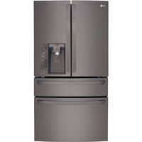 LG LMXC23746D 23 Cu.Ft Black Stainless Counter Depth 4-Door French Door Refrigerator - LMXC23746D - IN STOCK