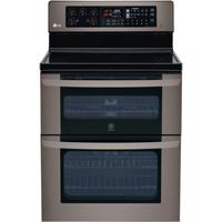 LG LDE3037BD 6.7 Cu. Ft Black Stainless 5 Burner Double Oven Range  - LDE3037BD - IN STOCK