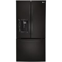 LG LFXS24623B 24.2 Cu. Ft 33 in. Width Black French Door Refrigerator - LFXS24623B - IN STOCK