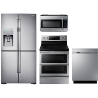 Samsung 4 Pc. Stainless French Door Kitchen Package - RF23JDBLKIT - IN STOCK