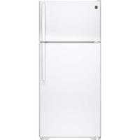 G.E. GTS16DTHWW 15.5 Cu. Ft. White Top Freezer Refrigerator - GTS16DTHWW - IN STOCK