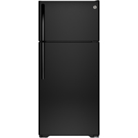 G.E. GTS16DTHBB 15.5 Cu. Ft. Black Top Freezer Refrigerator - GTS16DTHBB - IN STOCK