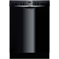 Bosch Ascenta SHE3AR76UC Black Recessed Handle Dishwasher - SHE3AR76UC - IN STOCK
