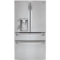LG LMXC23746S 22.7 Cu. Ft. Stainless Counter-Depth 4 Door French Door Refrigerator - LMXC23746S - IN STOCK