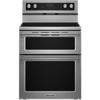 Kitchen Aid KFED500ESS 6.7 Cu. Ft. Stainless 5 Burner Double Oven Range - KFED500ESS - IN STOCK