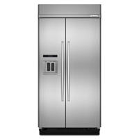 Kitchen Aid KBSD608ESS 29.5 Cu. Ft. 48 in. Width Stainless Built-In Side-by-Side Refrigerator - KBSD608ESS - IN STOCK