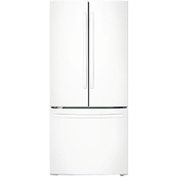 Samsung RF18HFENBWW 17.5 Cu. Ft. 33 in. Width White Counter Depth French Door Refrigerator - RF18HFENBWW - IN STOCK