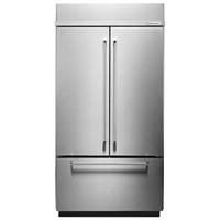 Kitchen Aid KBFN506ESS 20.8 Cu. Ft. Stainless Built-In Platinum Interior French Door Refrigerator - KBFN506ESS - IN STOCK