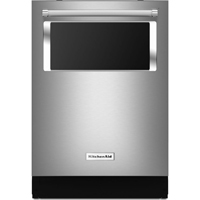Kitchen Aid KDTM804ESS 44dB Stainless Dishwasher with Window and Stainless Tub - KDTM804ESS - IN STOCK