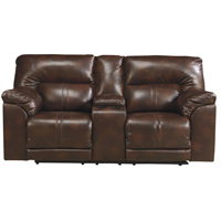 Ashley Signature Design Barrettsville Chocolate Reclining Loveseat - 4730194 - IN STOCK