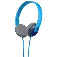 Skull Candy Uprock Micd On-Ear Headphones with Mic (Lime / Hot Blue) - S5URFY403 - IN STOCK