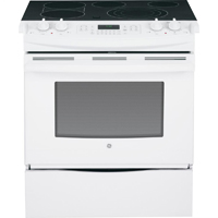 G.E. 30 in. 4.4 cu. ft. Slide-In Electric Range with True European Convection - JS750DFWW - IN STOCK