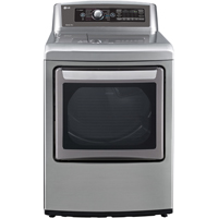 LG DLGX5781VE Gas 7.3 Cu. Ft Graphite EasyLoad High Efficiency Top Load Steam Dryer - DLGX5781VE - IN STOCK