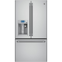 G.E. Café CFE28USHSS 27.8 Cu. Ft. Stainless French Door Refrigerator with Keurig - CFE28USHSS - IN STOCK