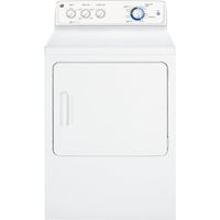 G.E. GHDP490EFWW Electric 7 Cu. Ft. White High Efficiency Top Load Dryer - GHDP490EFWW - IN STOCK