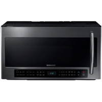 Samsung ME21H706MQG 2.1 Cu.Ft. Black Stainless Bottom Control Over-the-Range Microwave - ME21H706MQG - IN STOCK