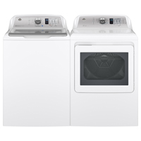 G.E. White HE Top Load Washer/Dryer Pair - GTW680BSPR - IN STOCK
