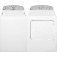 Whirlpool White Top Load Washer/Dryer Pair - WTW4810PR - IN STOCK