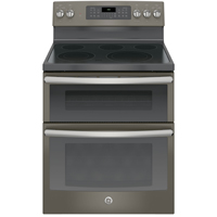 G.E. JB860EJES 6.6 Cu.Ft. Slate 5 Burner Freestanding Double Oven Range - JB860EJES - IN STOCK