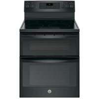 G.E. JB860DJBB 6.6 Cu.Ft. Black 5 Burner Freestanding Double Oven Range - JB860DJBB - IN STOCK