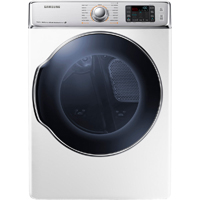 Samsung DV56H9100EW Electric 9.5 Cu. Ft. White Front Load Steam Dryer - DV56H9100EW - IN STOCK