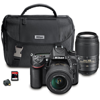 Nikon DSLR Camera with 18-55mm and 55-300mm Lenses Kit  - D7100BUND - IN STOCK