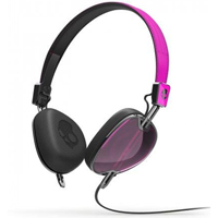 Skull Candy Navigator Headphones with Mic - Pink - S5AVFM313 - IN STOCK