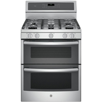 G.E. Profile PGB980ZEJSS 6.8 Cu.Ft. Stainless 5 Burner Convection Double Oven Gas Range - PGB980ZEJSS - IN STOCK