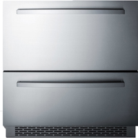Summit Stainless steel drawers/w adjustable dividers - SP7D2 - IN STOCK
