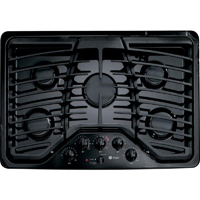 G.E. Profile PGP953DETBB 30 in. Black 6 Burner Gas Cooktop - PGP953DETBB - IN STOCK