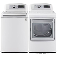 LG White HE Top Load Washer/Dryer Pair - WT5680WEPR - IN STOCK