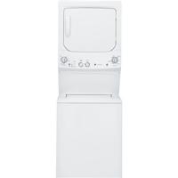 G.E. GUD27GSSJWW 3.2/5.9 Cu.Ft. White Laundry Center with Gas Dryer - GUD27GSSJWW - IN STOCK